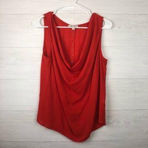 Ella Moss orange drape neck sleeveless tank top
